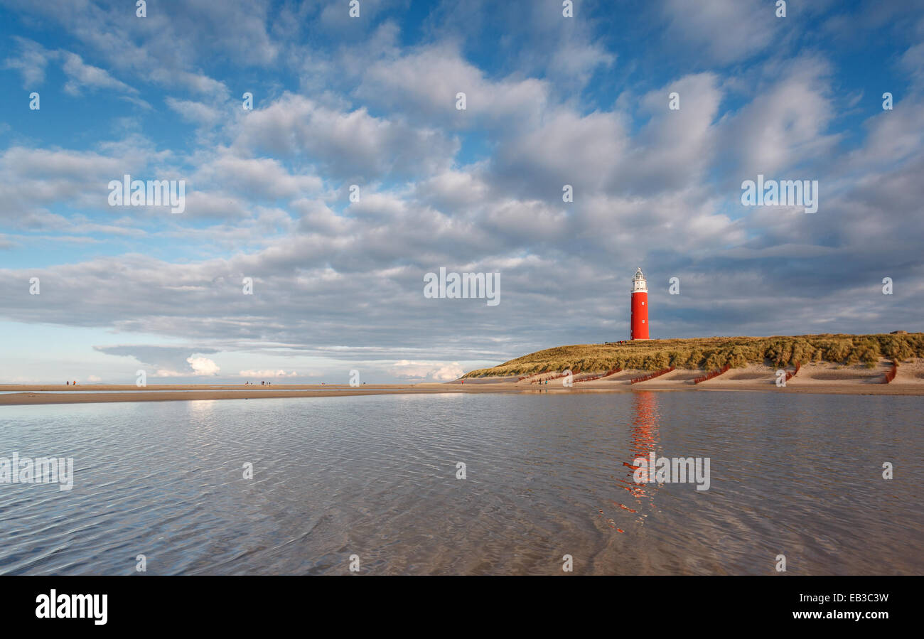 Holland, Noord-Holland, De Cocksdorp, Lighthouse of Texel - Stock Image