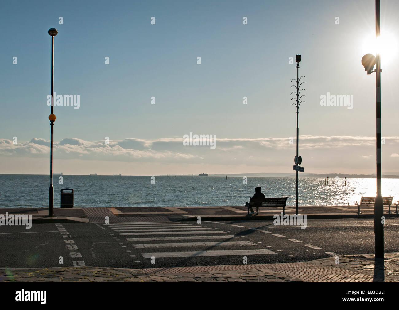 Sothsea Seafront off season Stock Photo