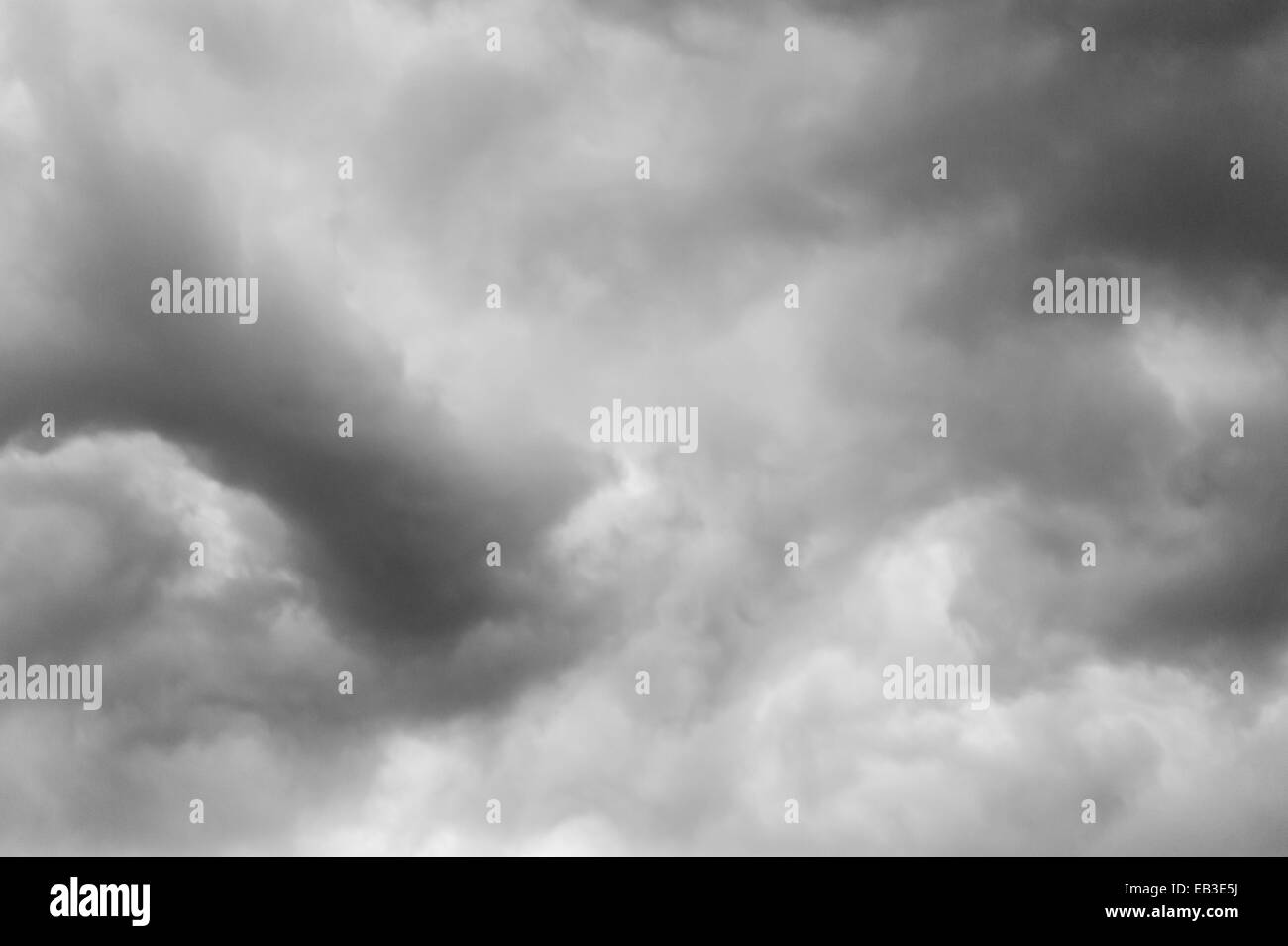 cloudy sky before the rain - Stock Image