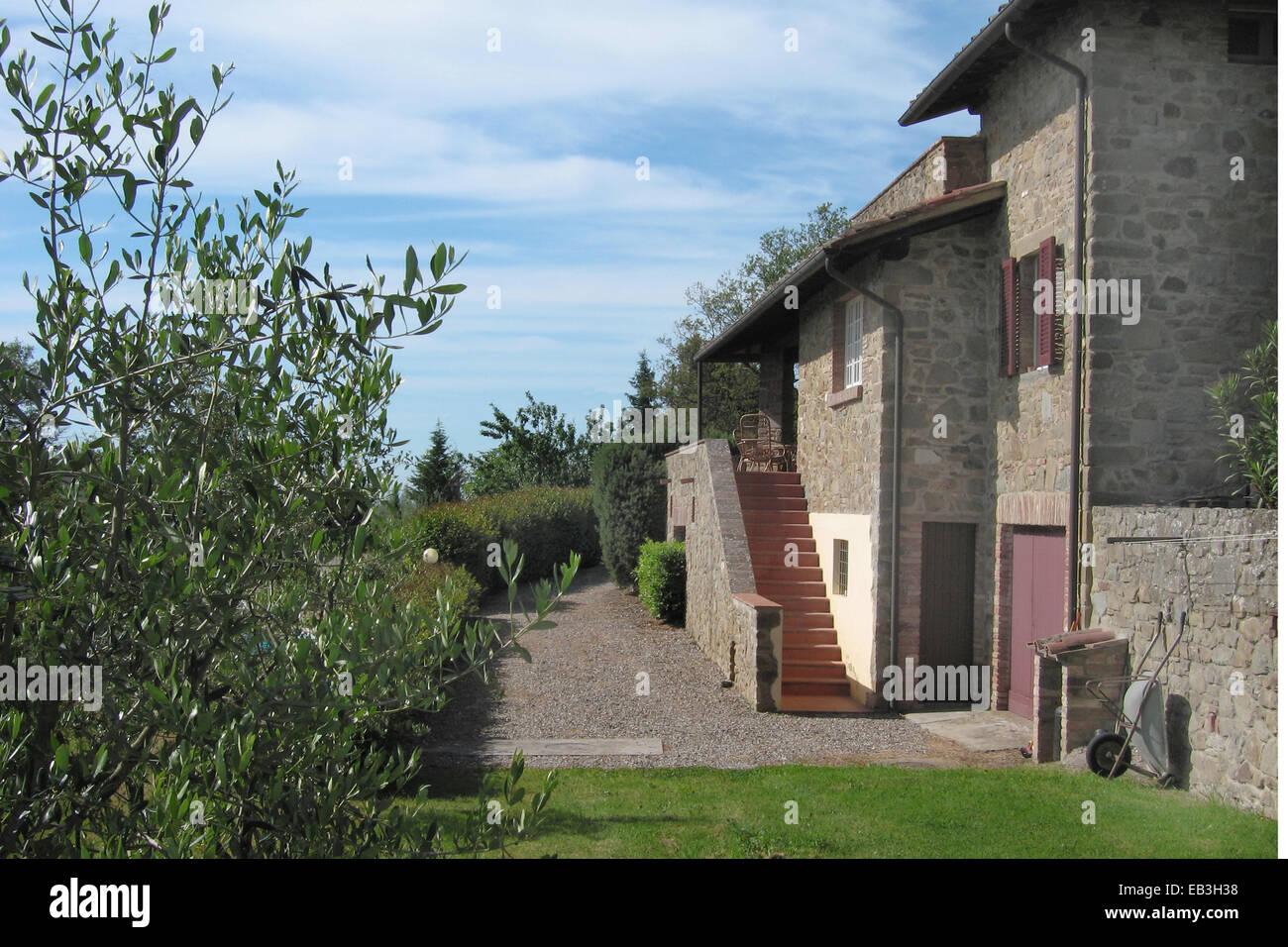 stone house in Tuscany Stock Photo