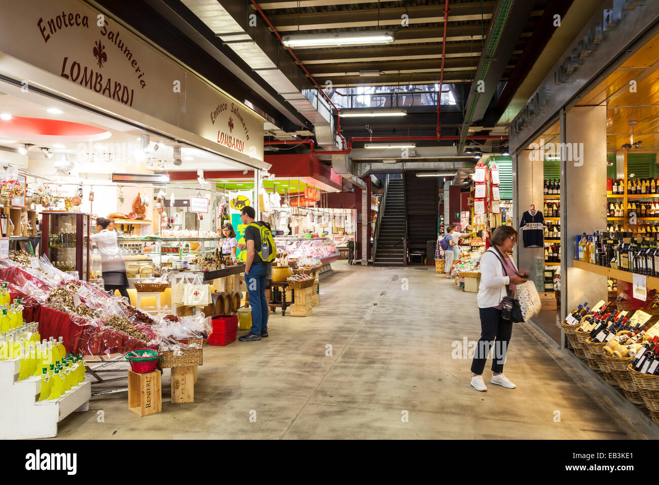 Mercato Centrale in Florence, Italy. - Stock Image