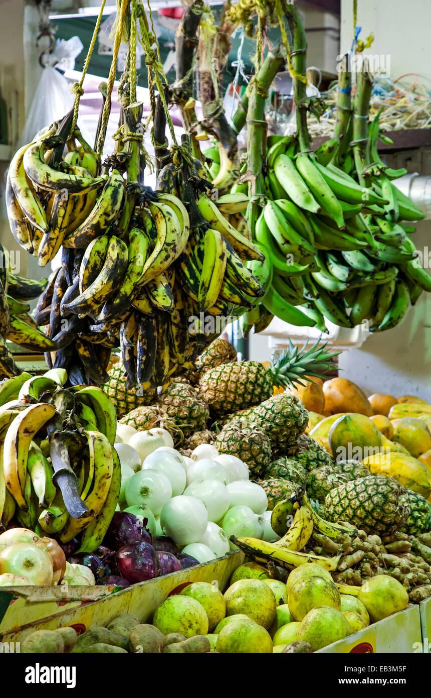 Fresh produce, Plaza del Mercado, Santurce, Puerto Rico - Stock Image