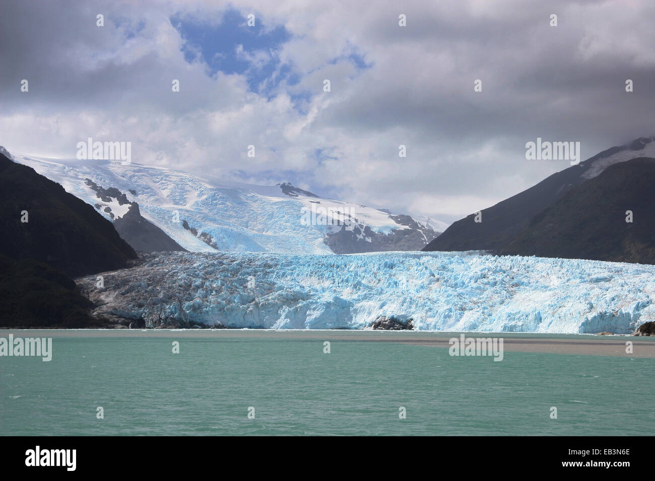 Amalia Glacier, also known as Skua Glacier, is a tidewater glacier located in Bernardo O'Higgins National Park, - Stock Image