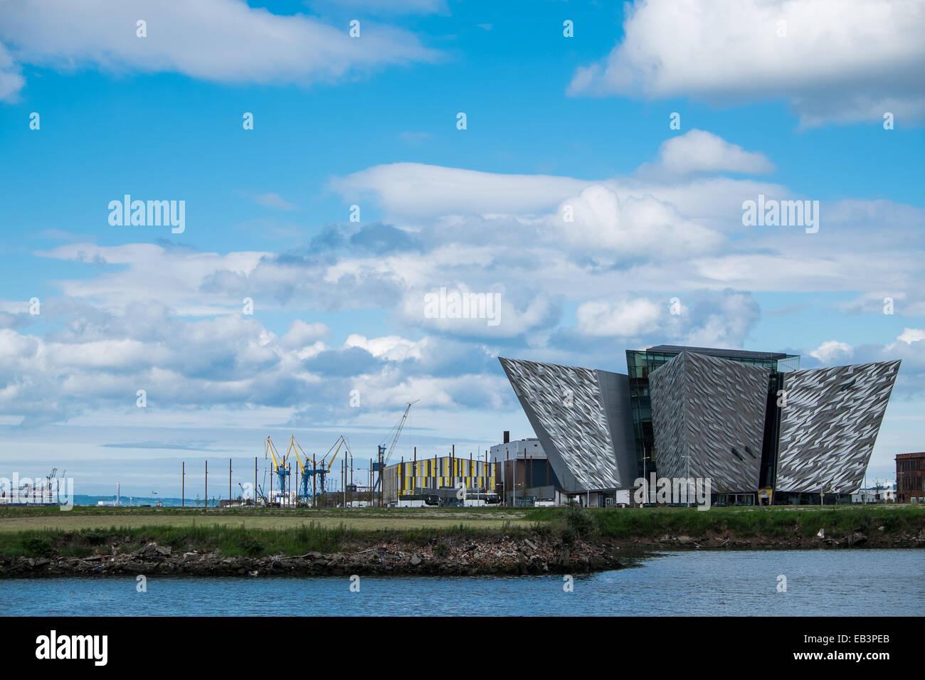 Titanic Museum in Belfast Northern Ireland - Stock Image