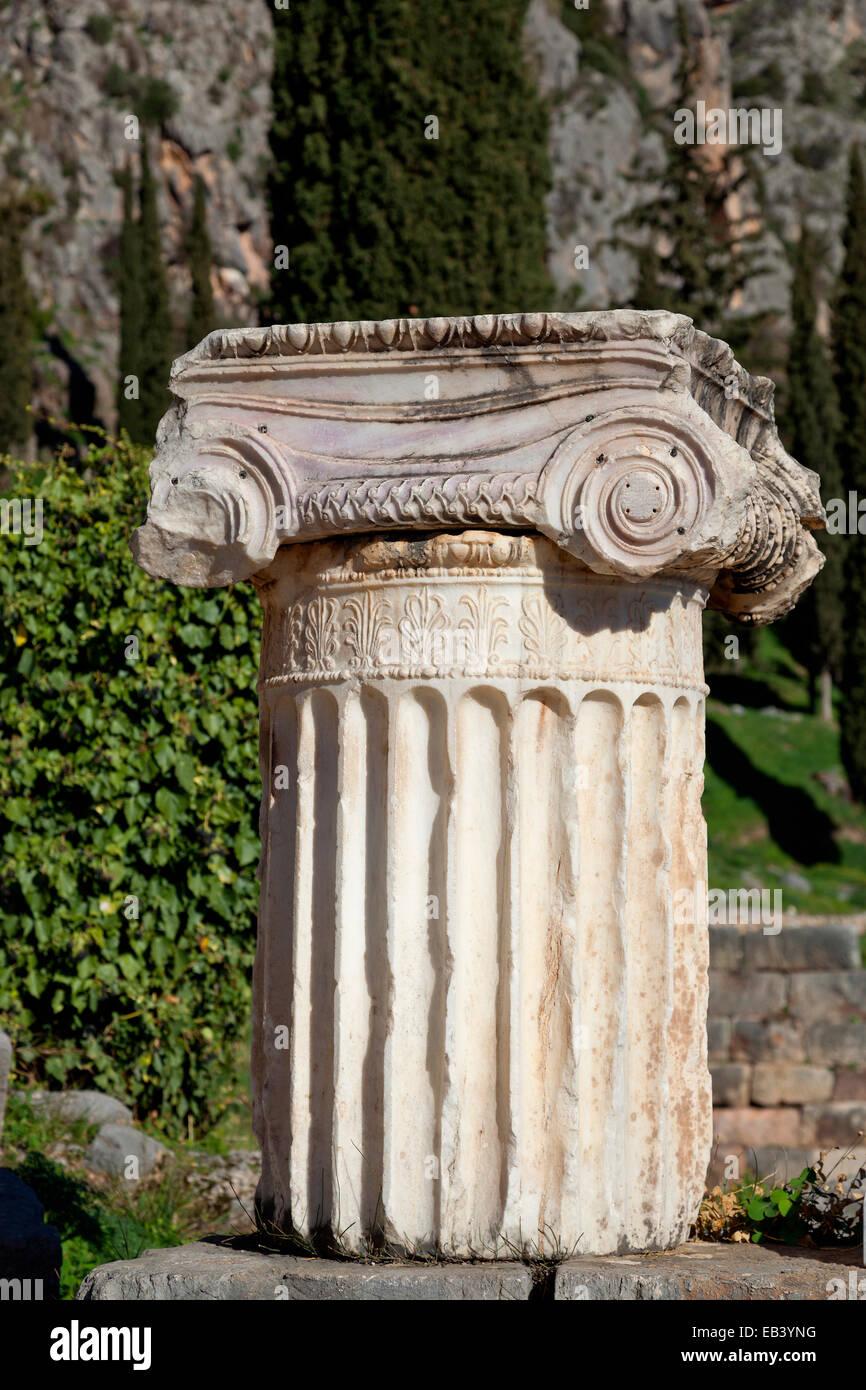 Ancient site of Delphi. Greece. Stock Photo