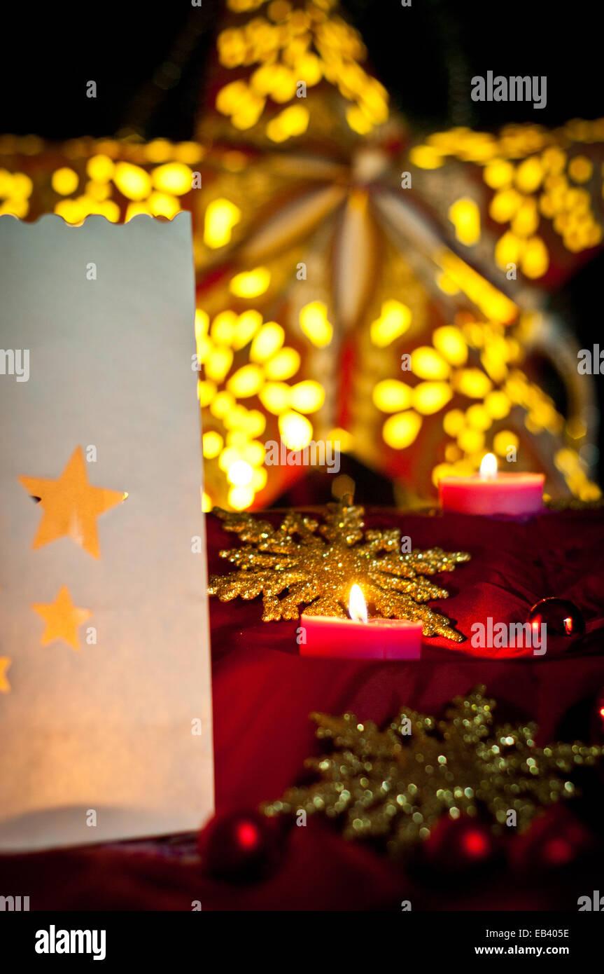 Christmas Decorations Balls Stars Lights And Local Handicrafts