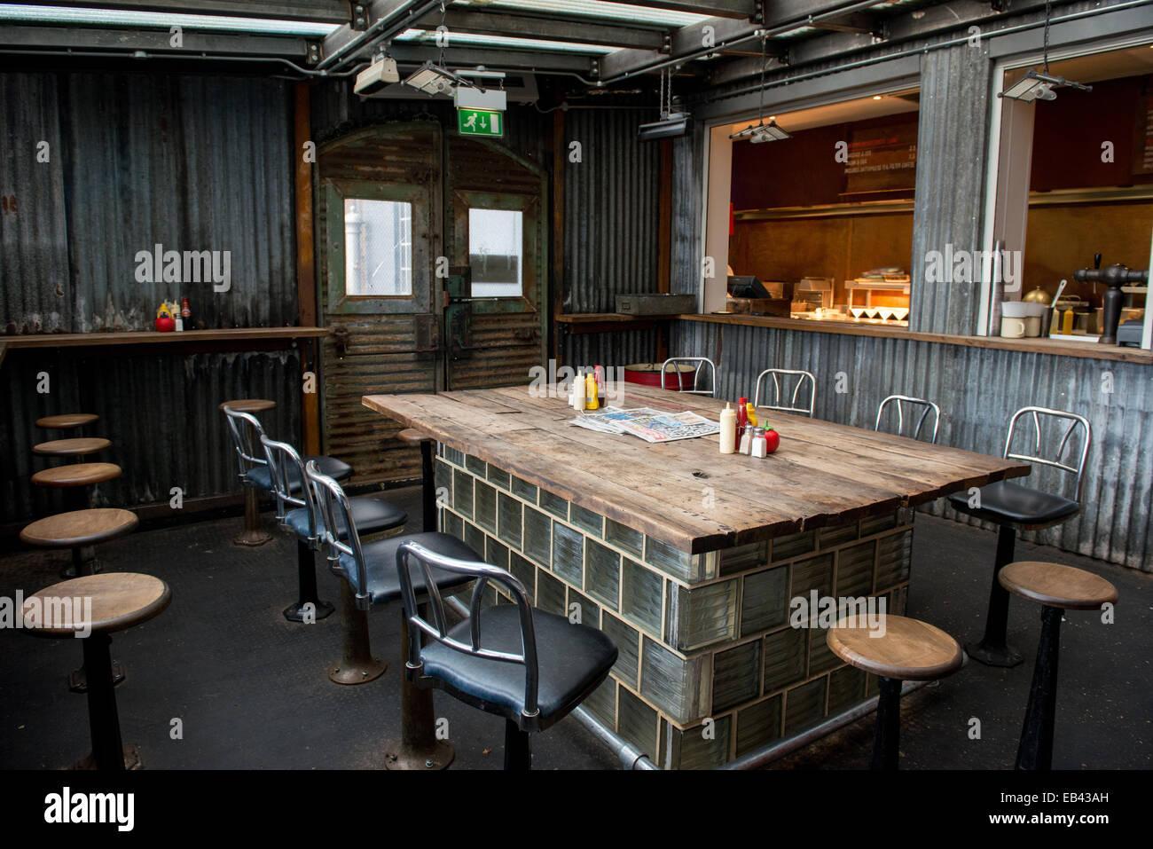 Dirty Burger Restaurant,  Highgate Road, London - Stock Image