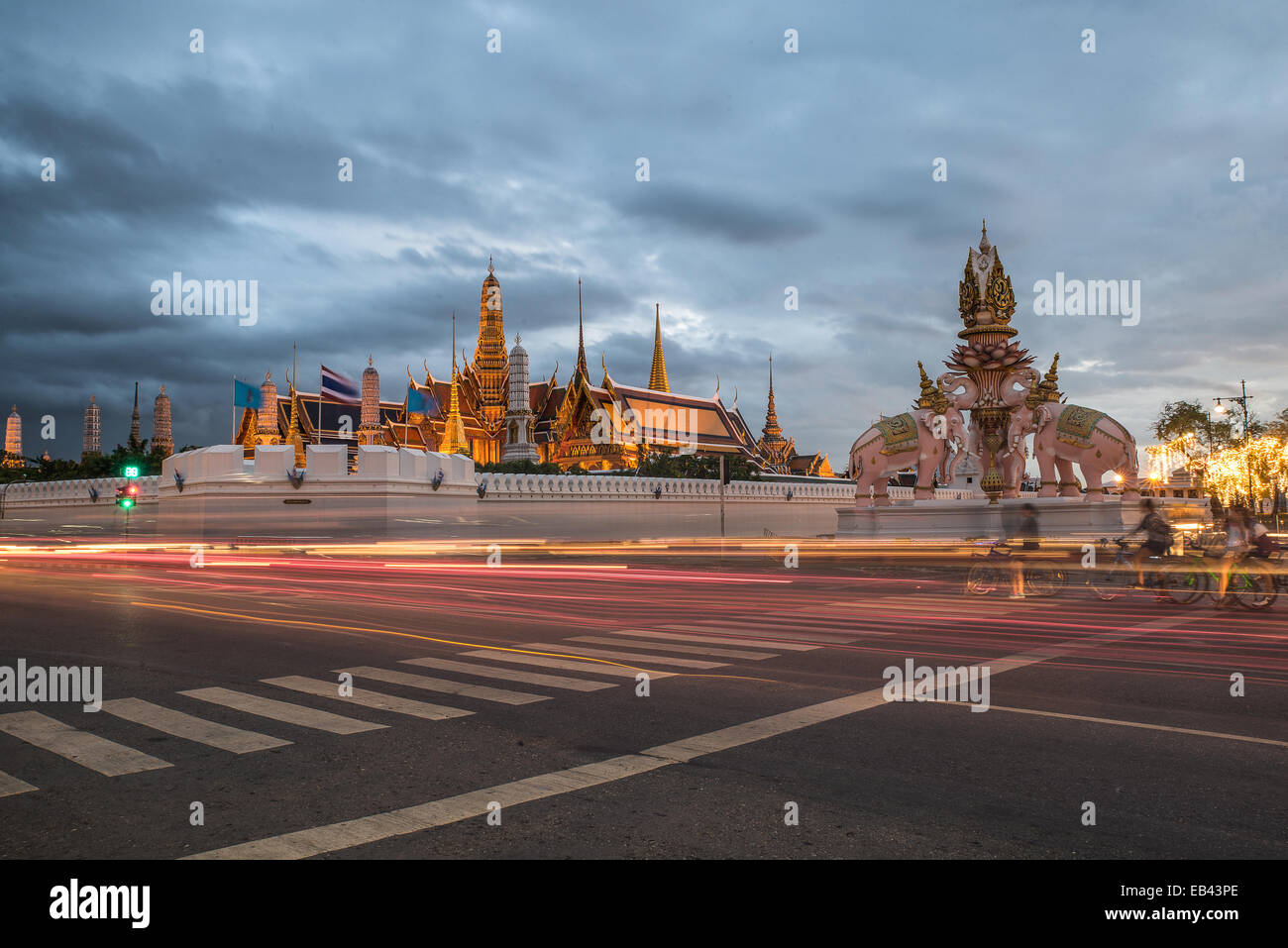 Temple of the Emerald Buddha.(Wat Phra Kaew.) Bangkok, Thailand. - Stock Image