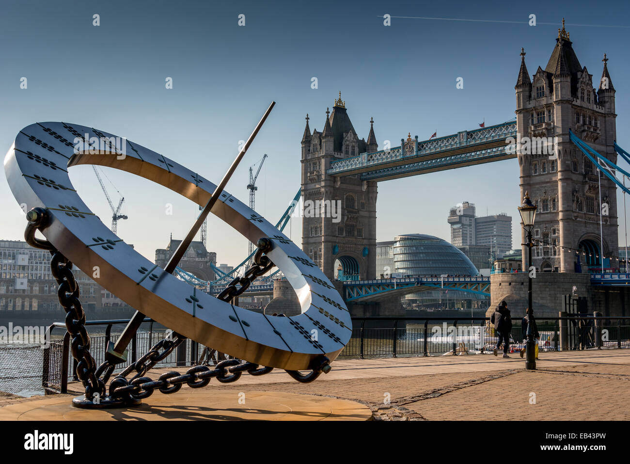Sundial: St Katharine's Dock Dial, Tower Bridge - Stock Image