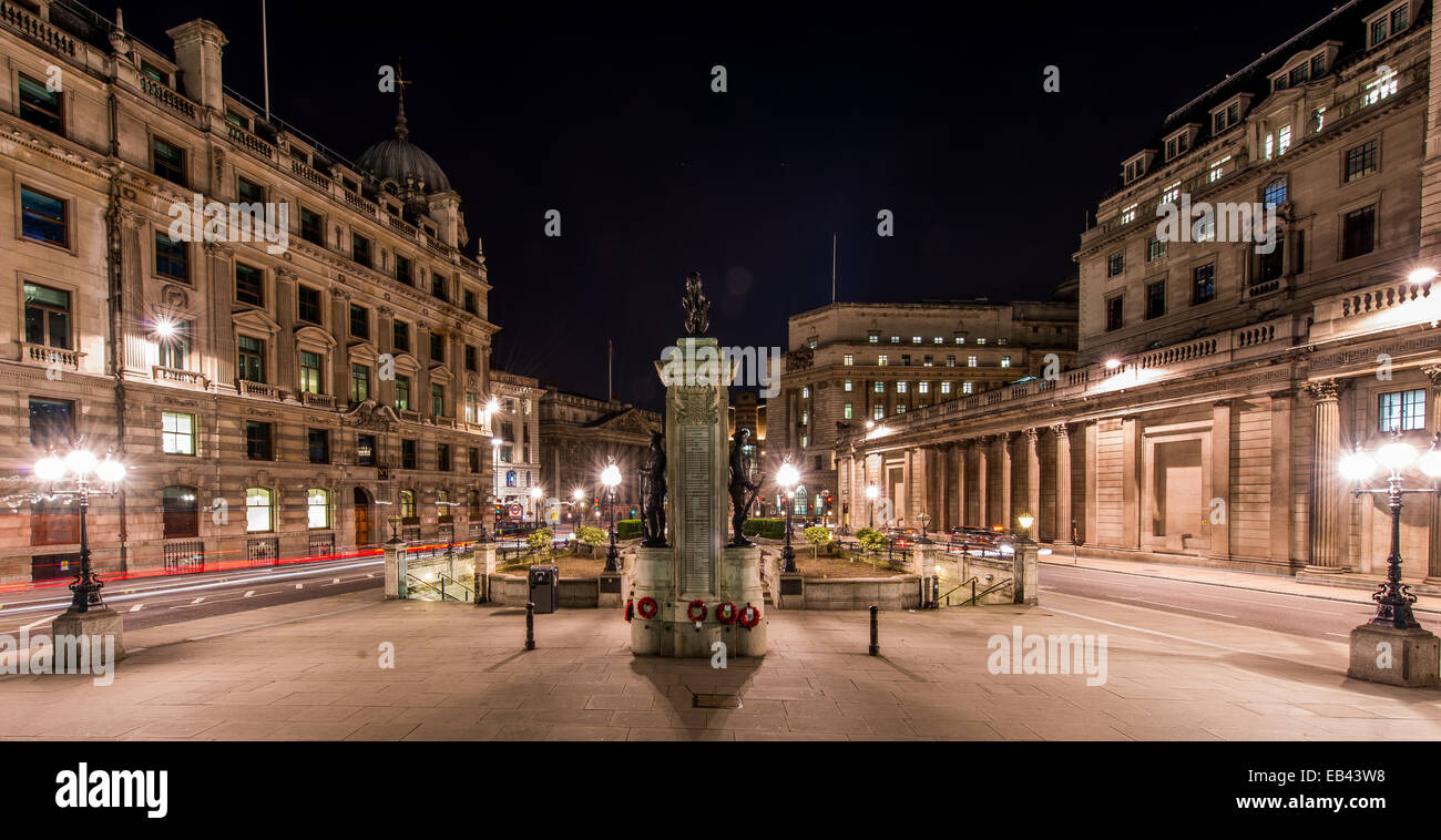 From the steps of the Royal Exchange to Bank Junction - Stock Image