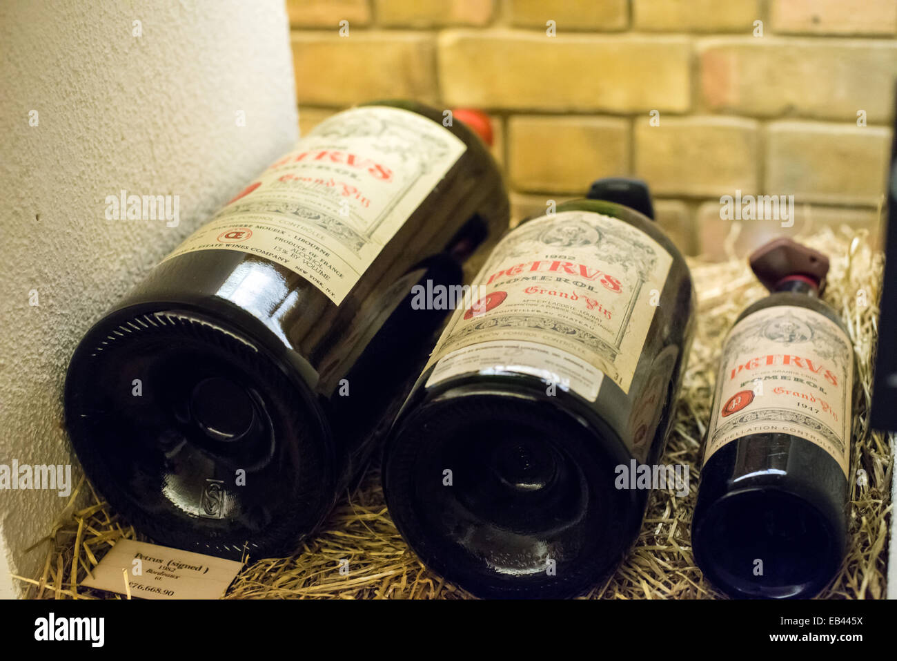 In Imperial Of 1982 Petrus A Jeroboam And Bottle 1947 Shot At Hedonism Wines Davies Street London