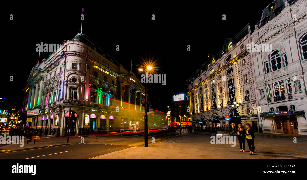 From Piccadilly Circus, Shaftsbury Avenue, Coventry Street, Believe It or Not museum, Criterion Restaurant - Stock Image