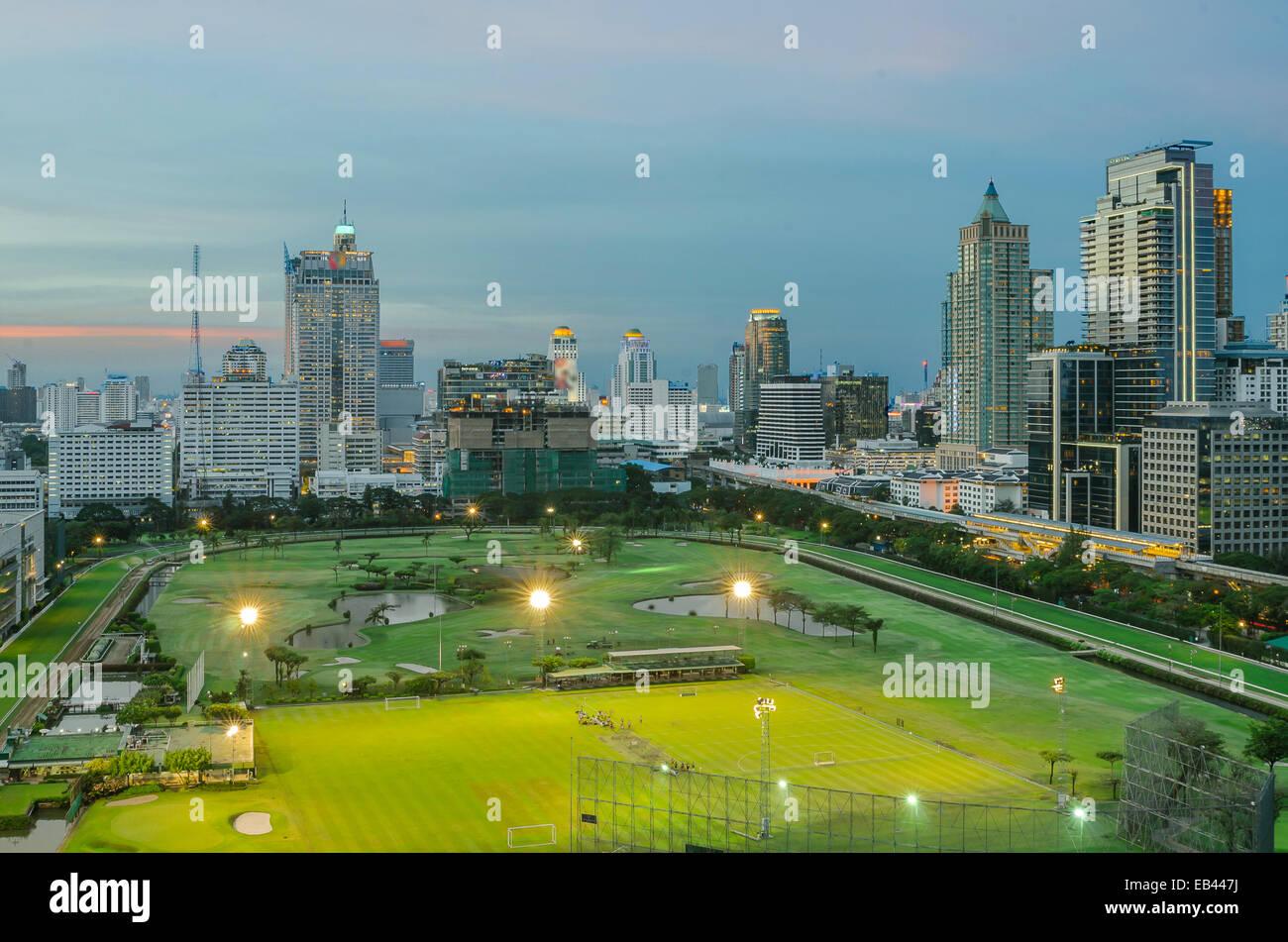 Park in city,Bangkok Thailand - Stock Image
