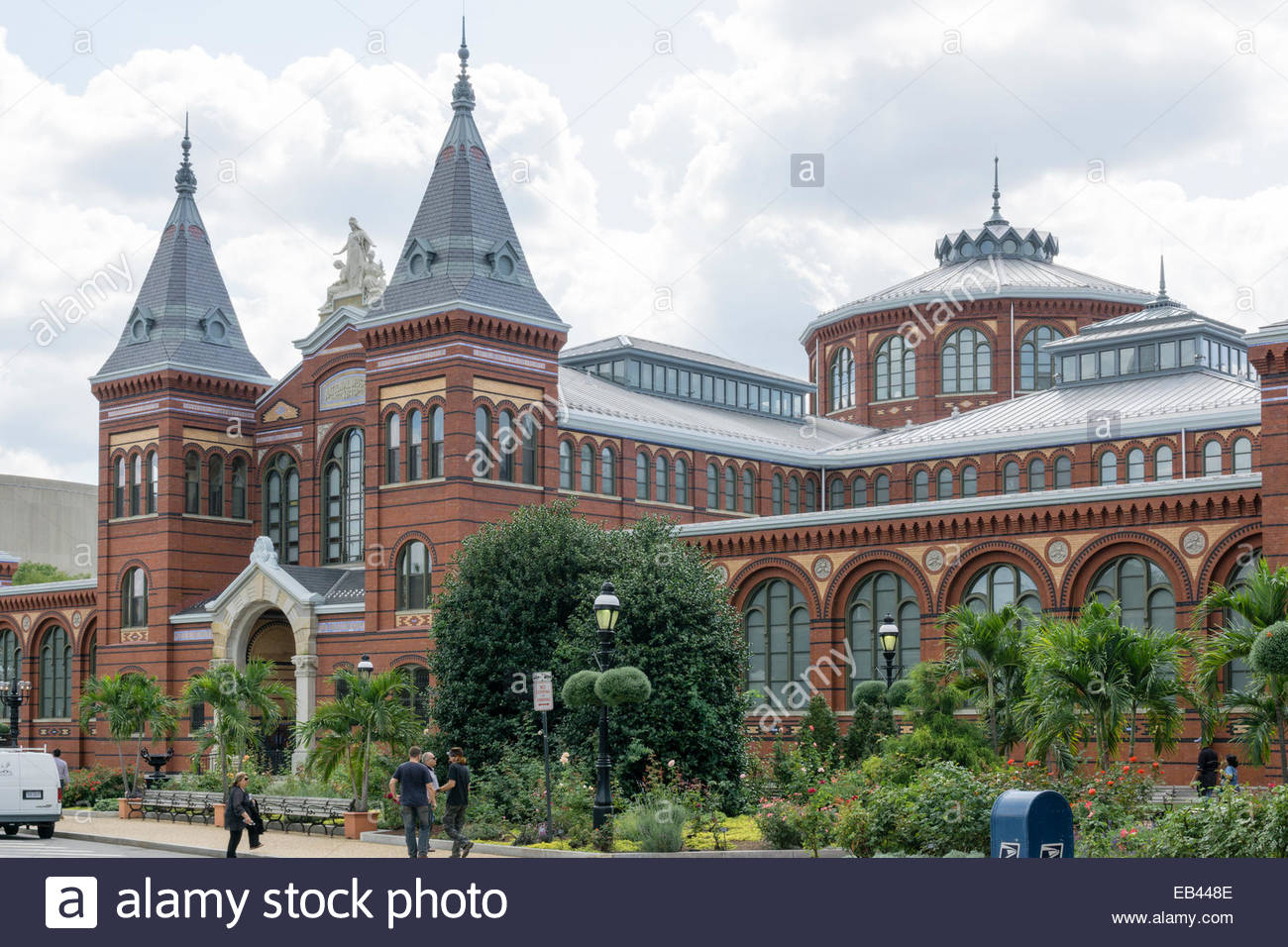 The Arts and Industries Building of the Smithsonian Institution opened in 1881 and sits on the National Mall in - Stock Image
