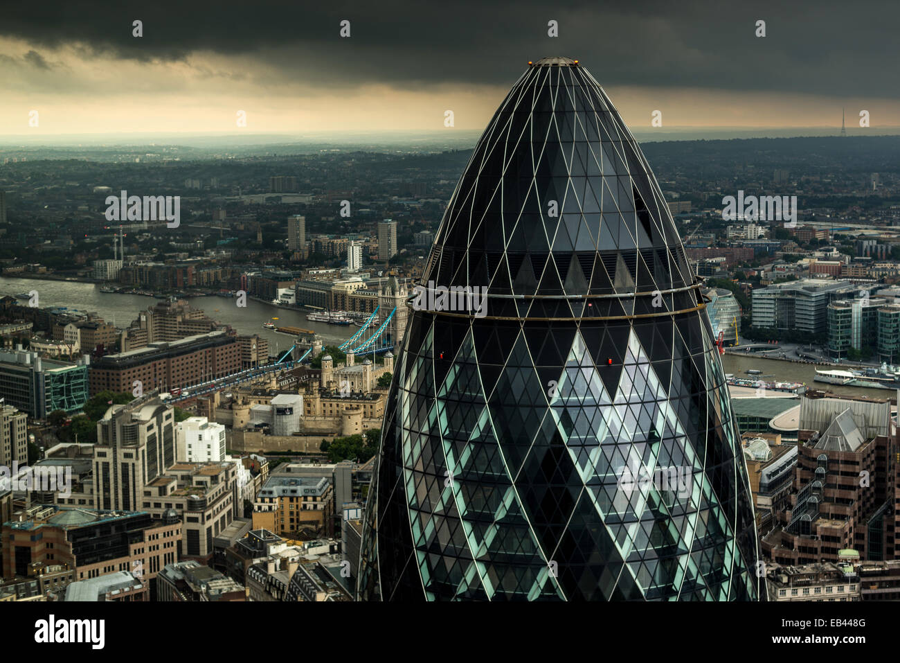 30 St Mary Axe, Gherkin, Sir Norman Foster and Partners - Stock Image