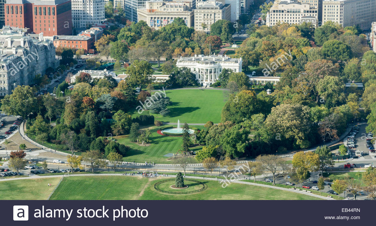 Aerial view of the white house and grounds in washington for See images of my house