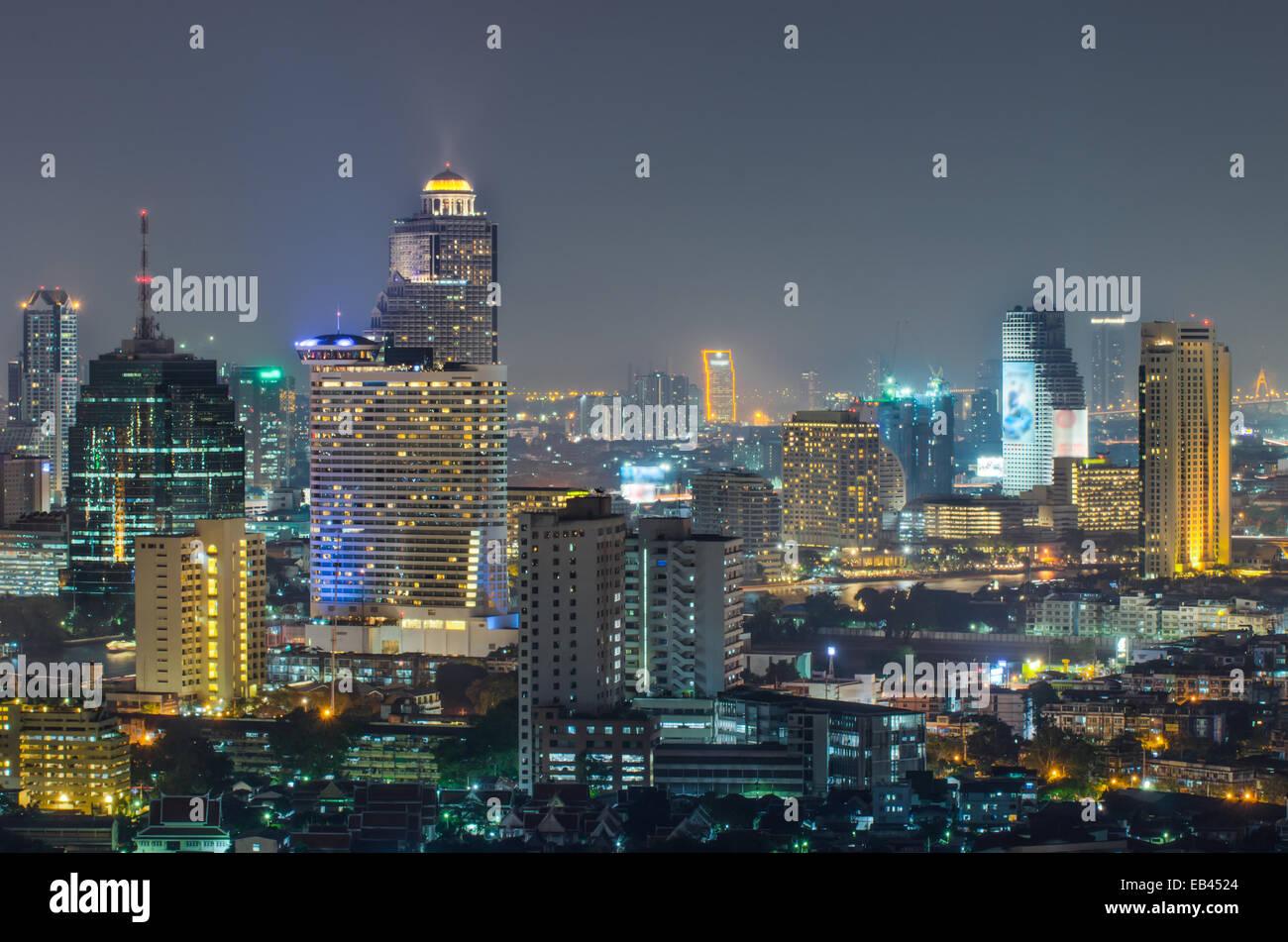 Bangkok city night view, Thailand - Stock Image