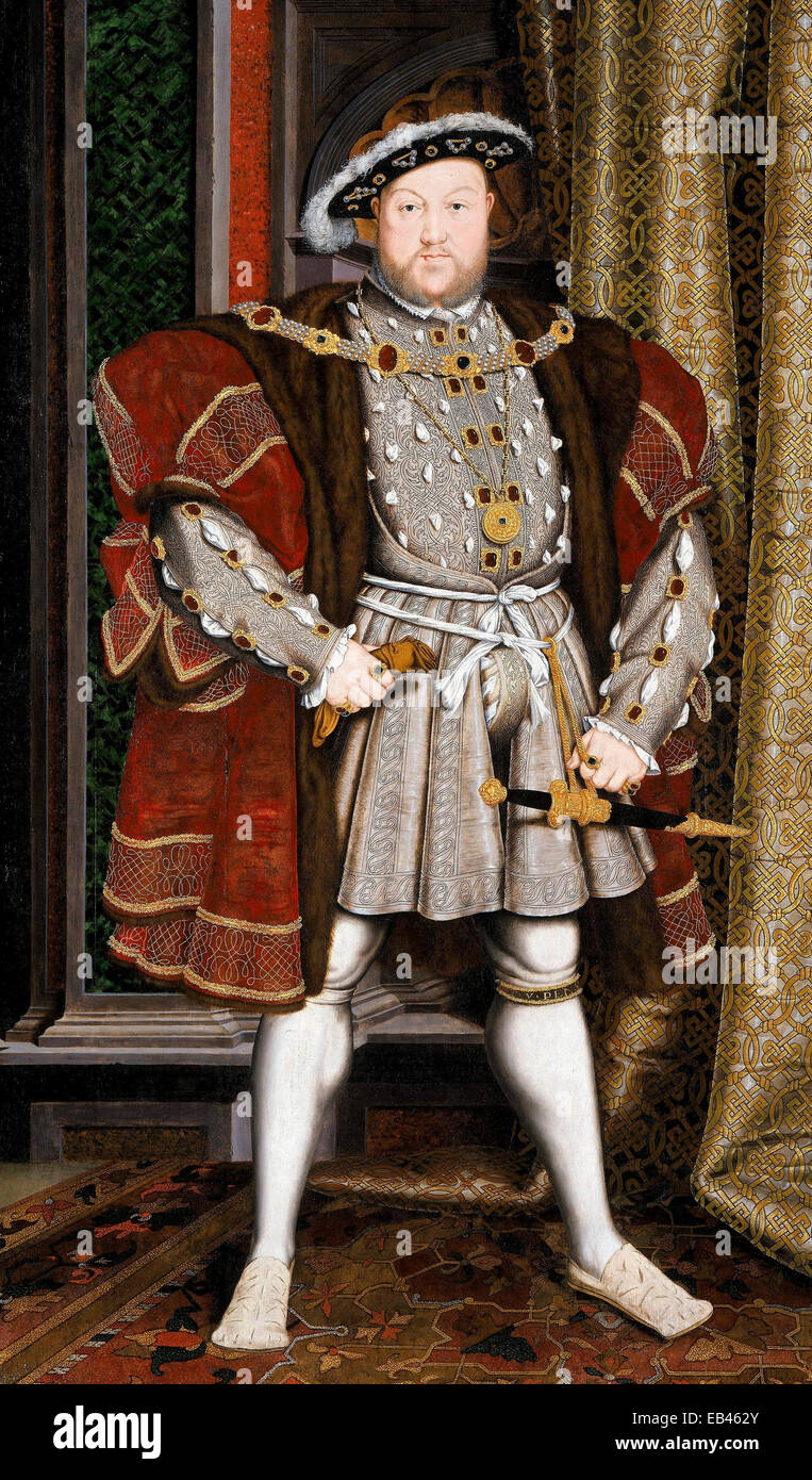 A portraiture of Henry VIII by the workshop of Hans Holbein the Younger 1497/1498 - Stock Image