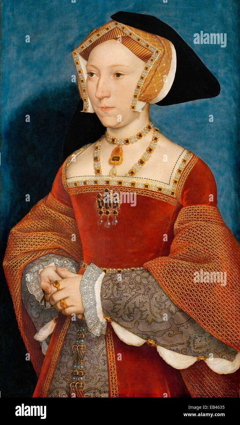 Jane Seymour became Henry the VIII's third wife by Hans Holbein the Younger - Stock Image