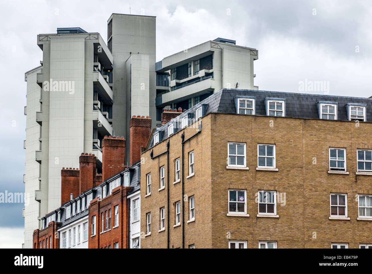High rise social housing in the Borough of Hackney, East london - Stock Image