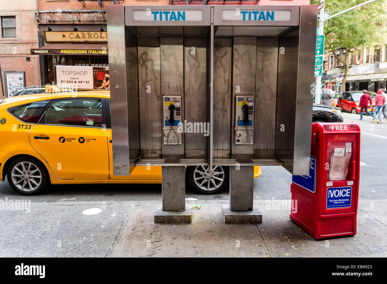 Toyota Pay By Phone >> New York Ny 23 Nov 2014 Public Coin Operated Pay Phone Booth