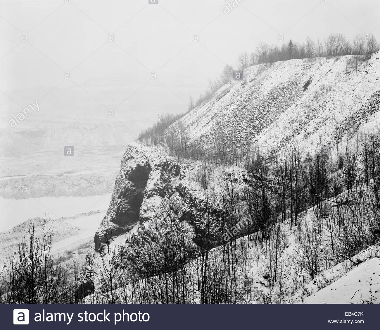 The Hull Rust Mahoning Open Pit Iron Mine. - Stock Image