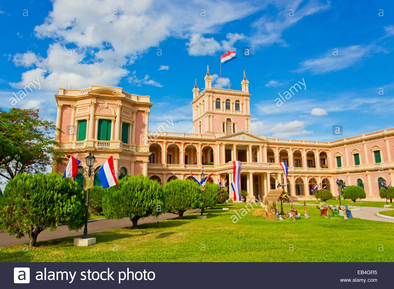 The Presidential palace in downtown Asuncion, Paraguay. - Stock Image