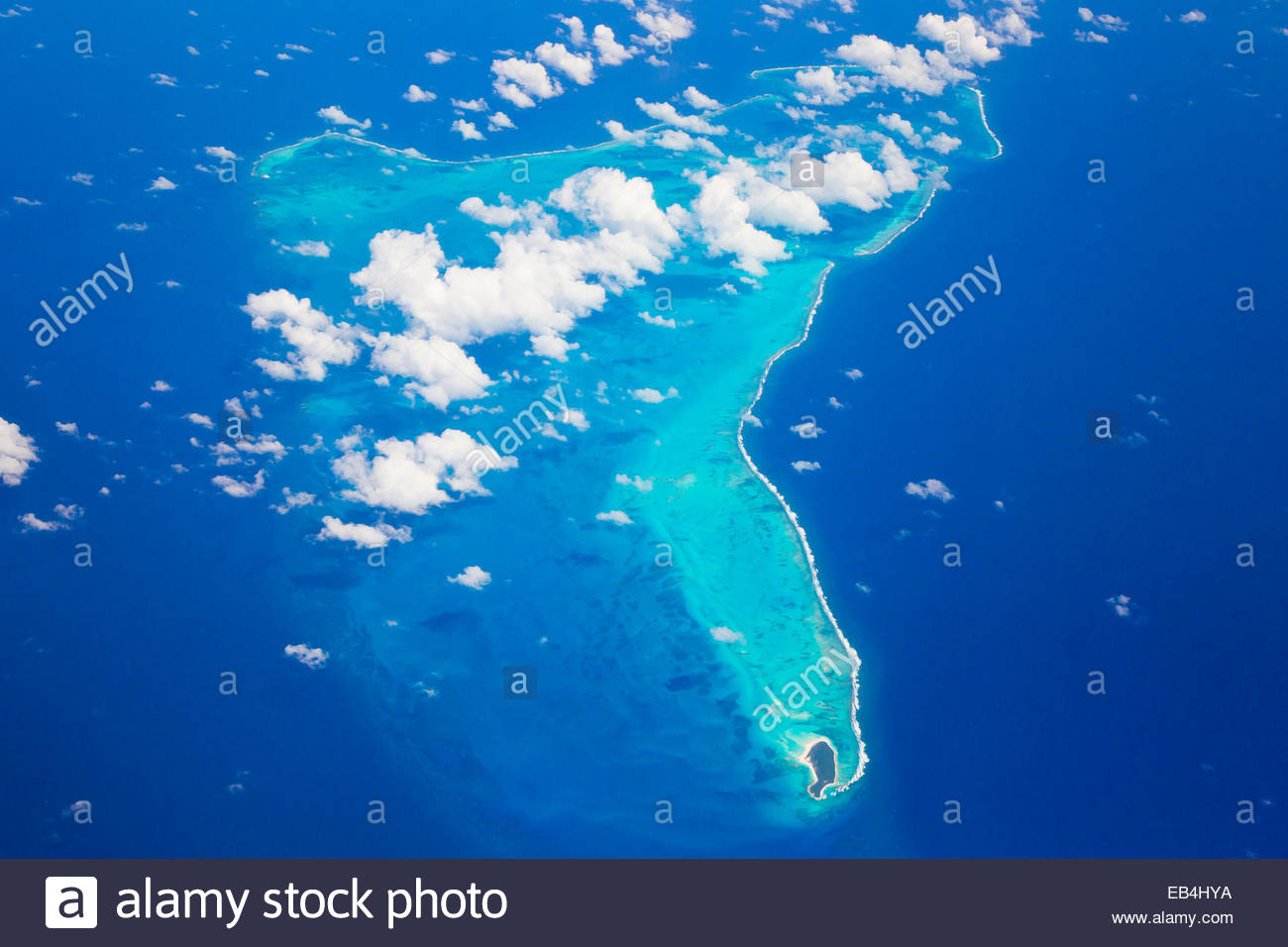 Small islands in the Caribean on the south side of Cuba. - Stock Image