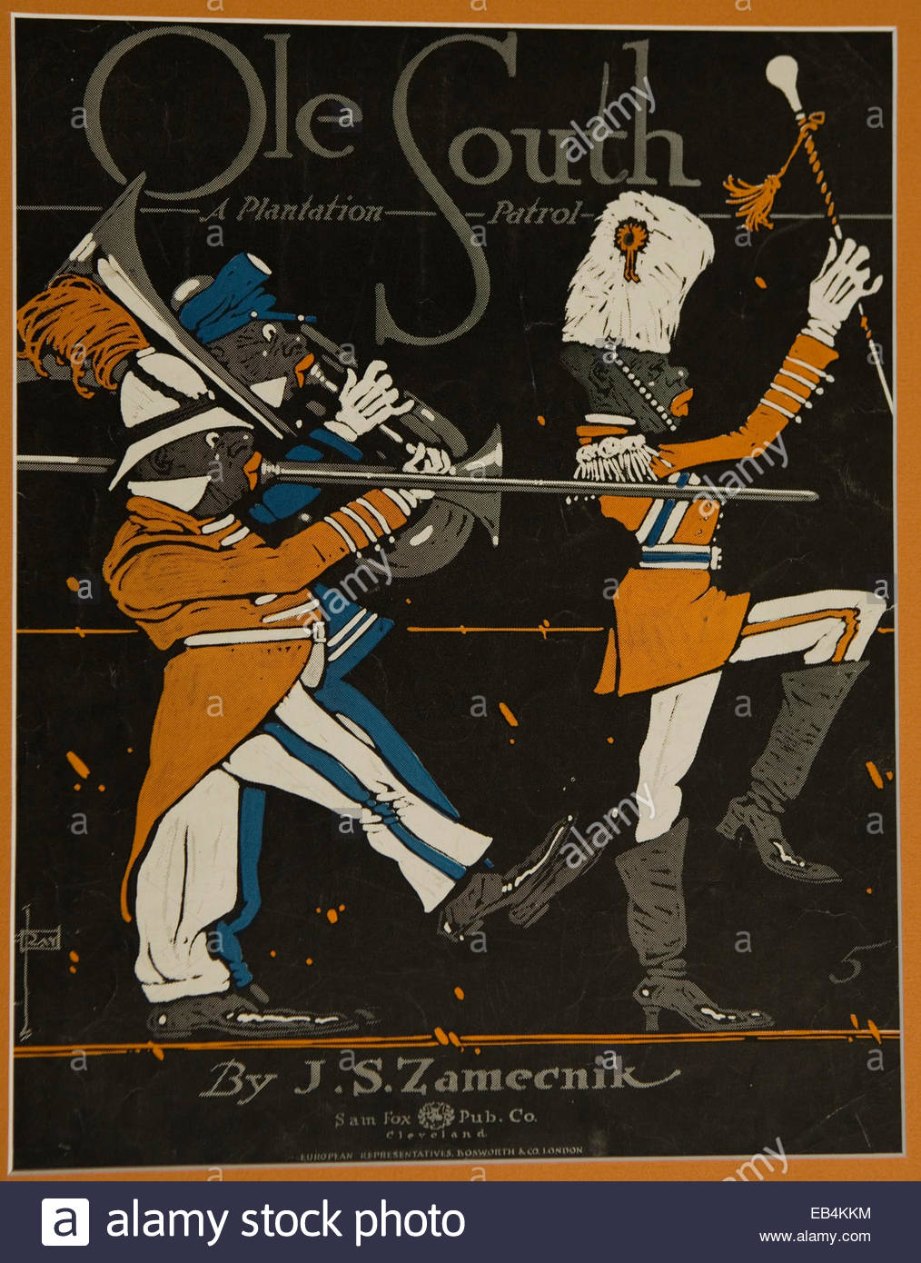 Sheet music from the early 20th century. - Stock Image