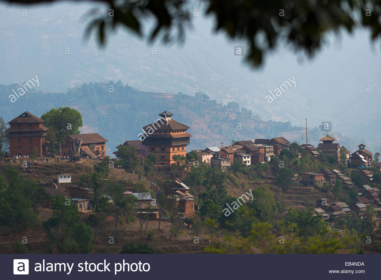 The historical Newari village of Nuwakot in Nepal - Stock Image