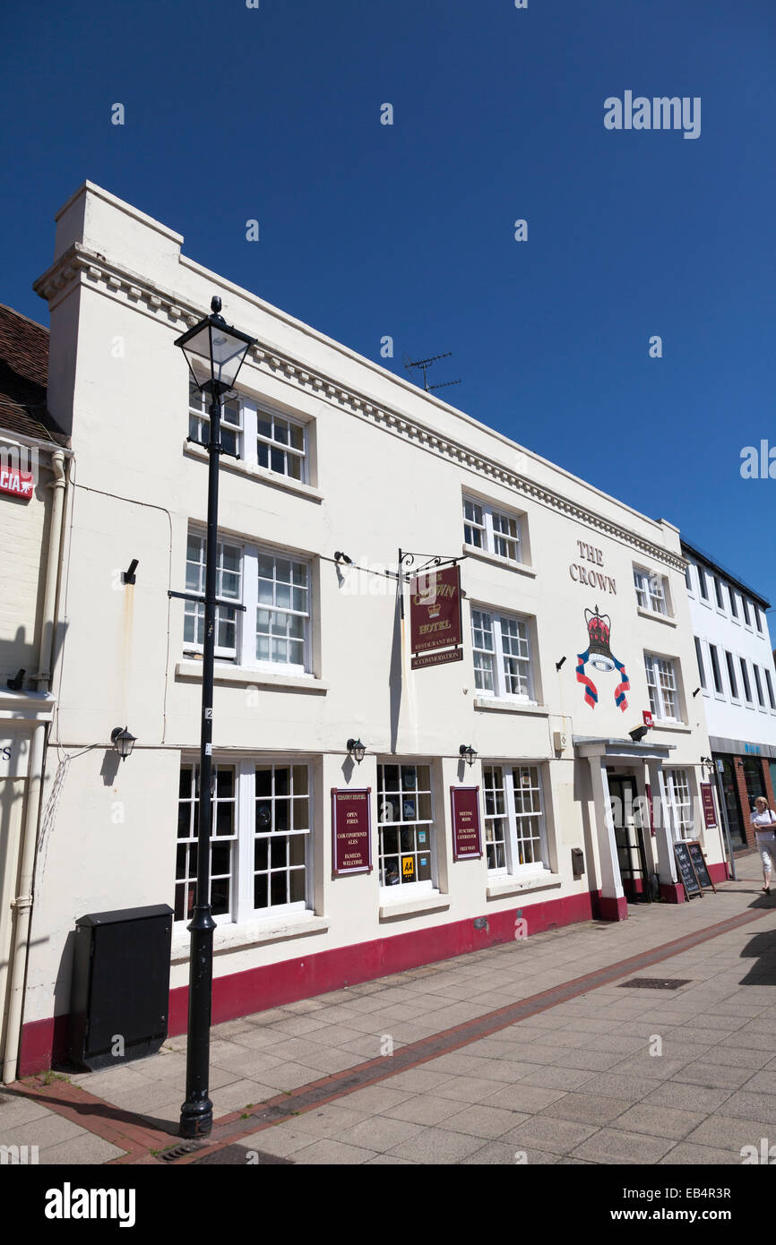 The Crown Hotel Emsworth exterior. Stock Photo