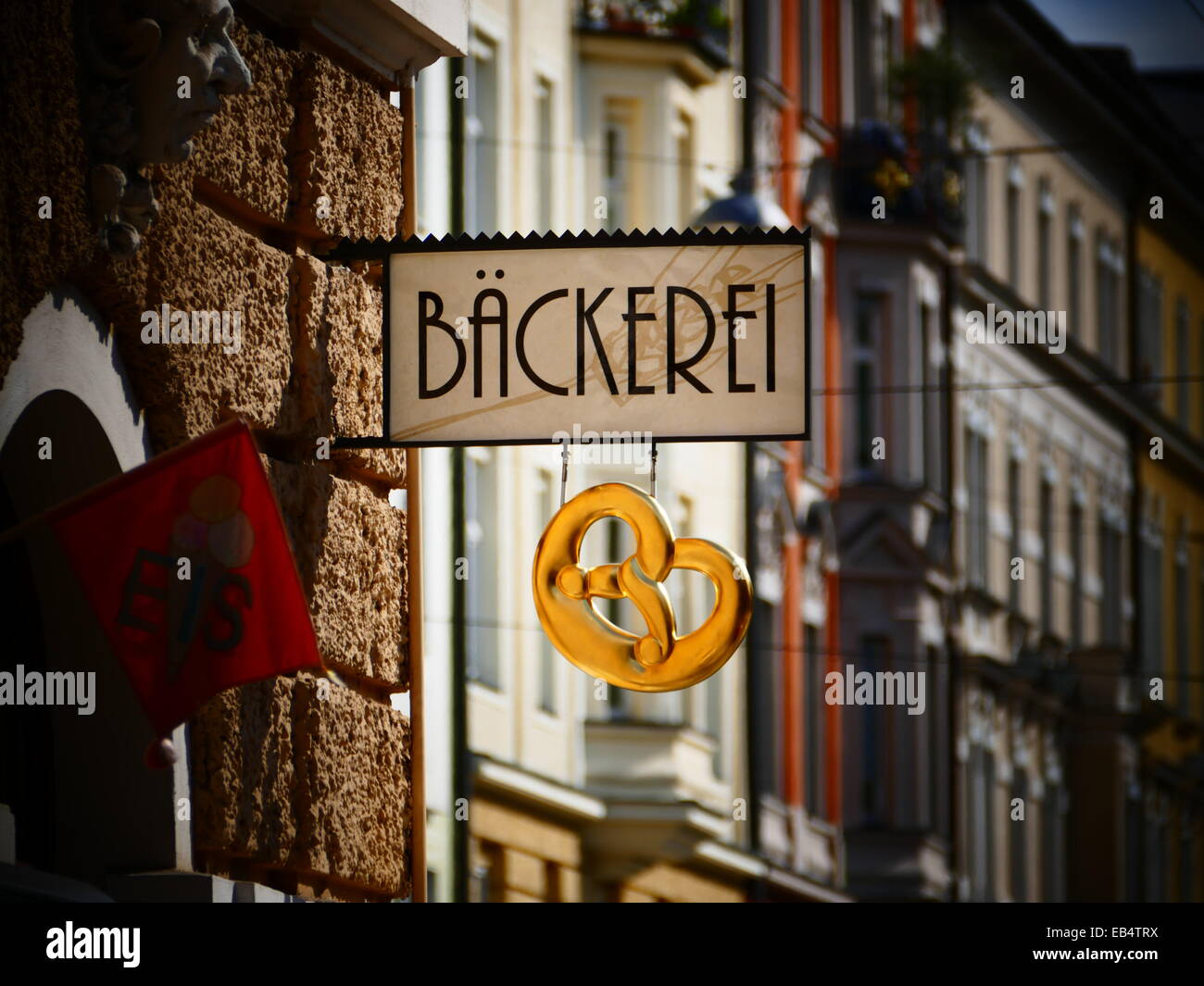 Germany Bakery shop sign - Stock Image