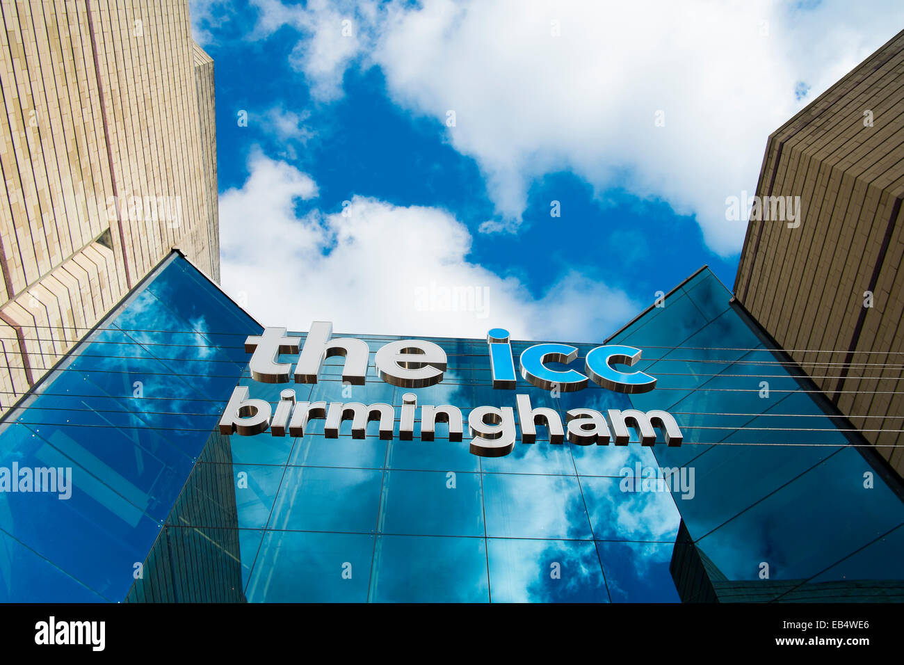 Entrance to the International Convention Centre, ICC, Birmingham, England, UK - Stock Image