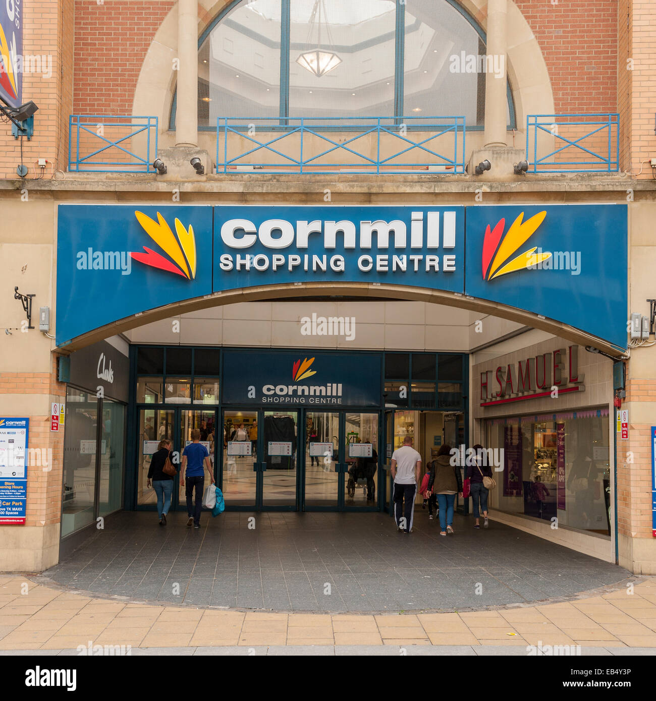 The Cornmill Shopping Centre Entrance In Darlington County Durham
