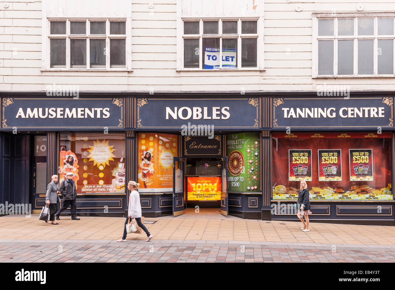 The Nobles Tanning Centre and amusements in Darlington , County Durham , England , Britain , Uk - Stock Image