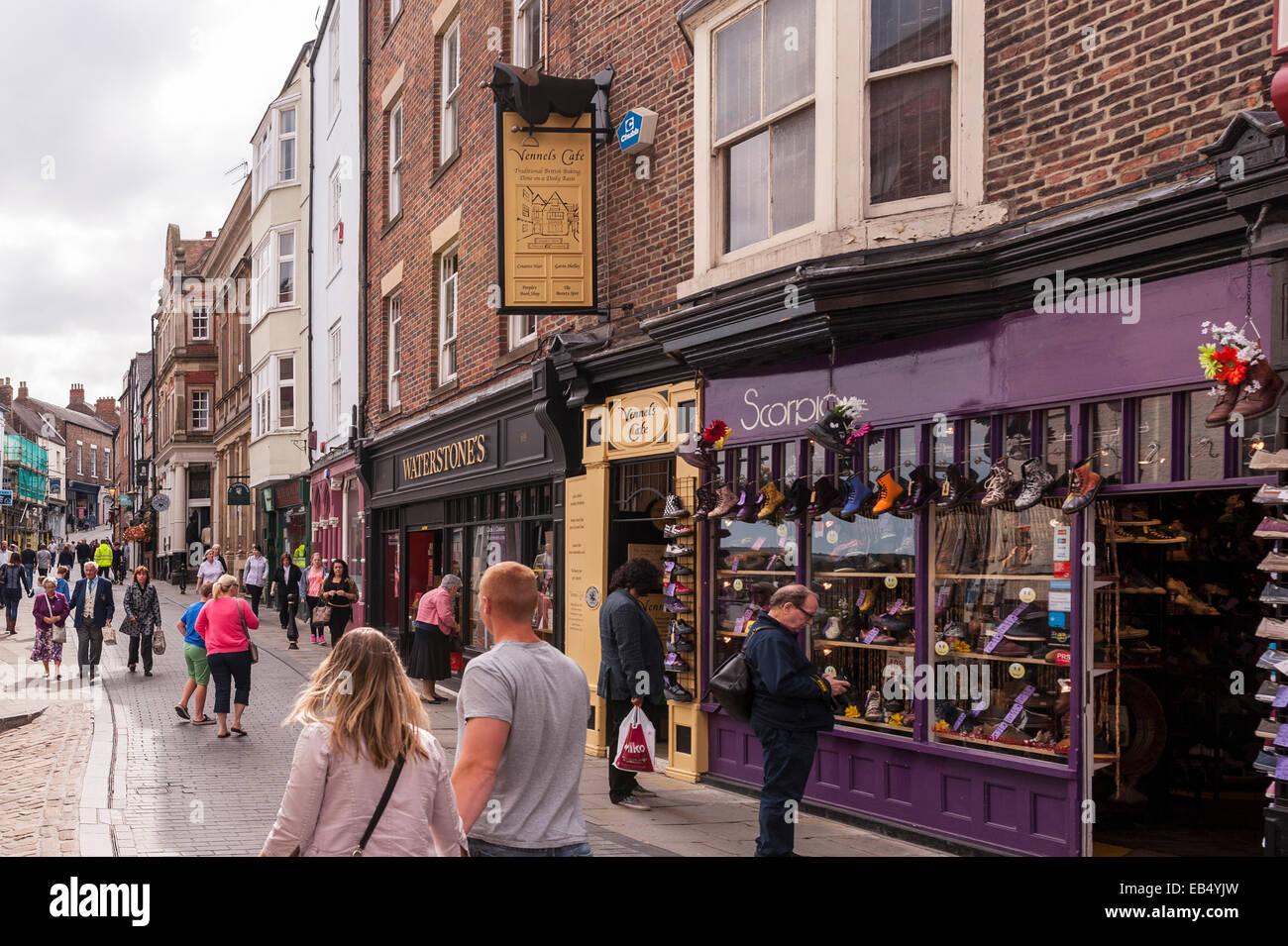 The City centre of Durham , England , Britain , Uk - Stock Image