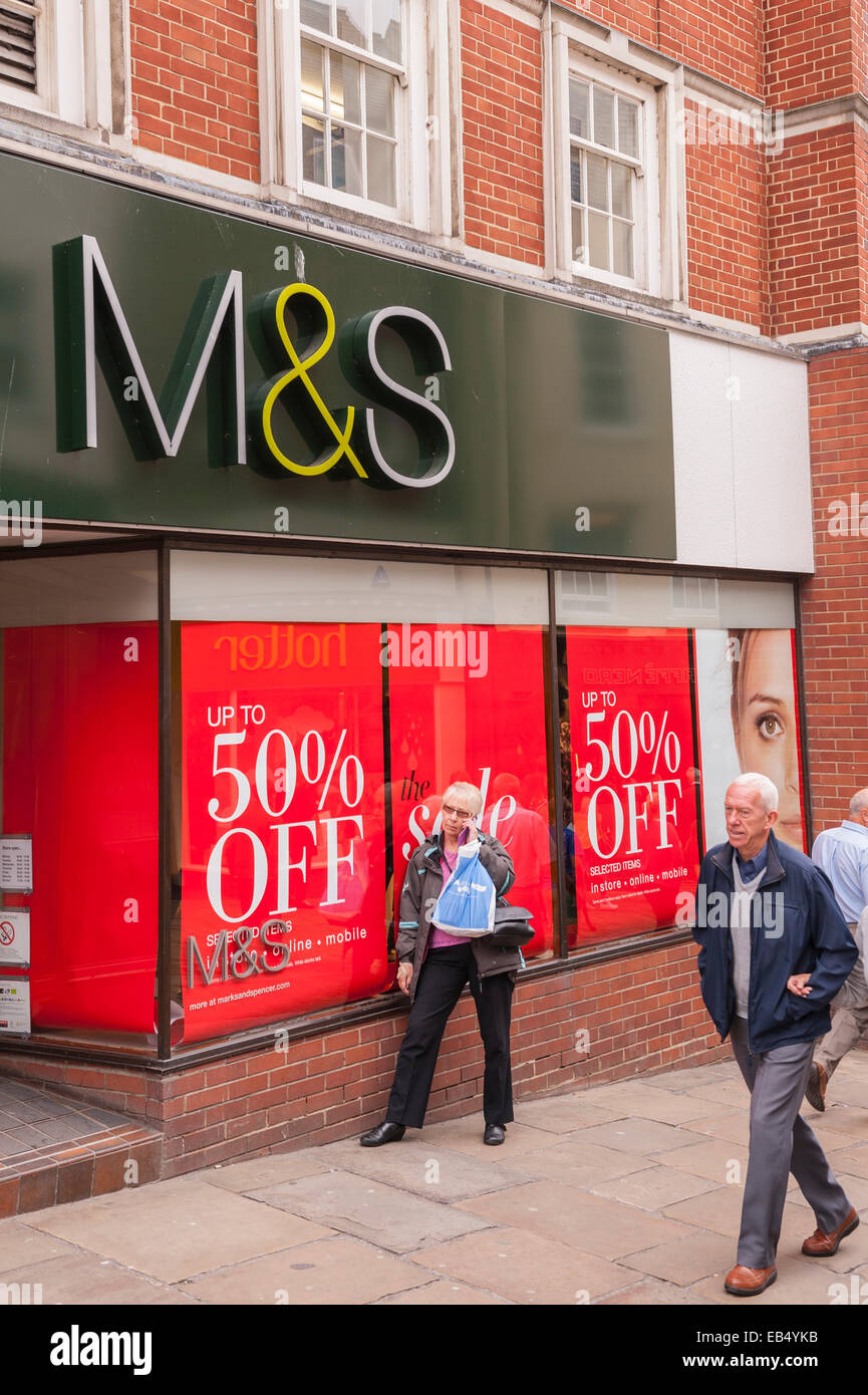 The M&S shop store in Durham , England , Britain , Uk - Stock Image