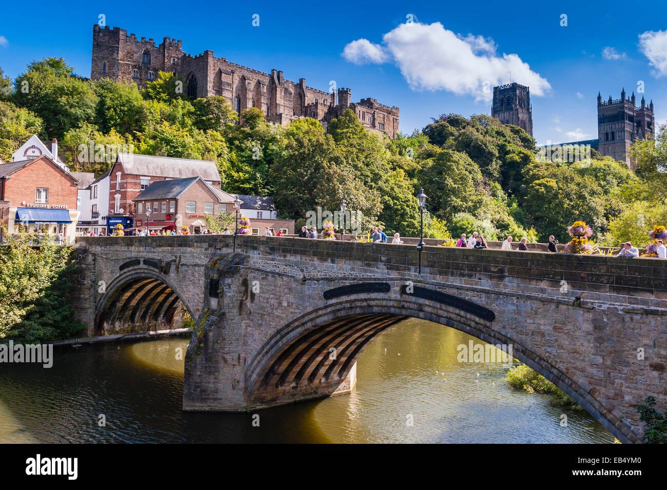 Built in1093 to house the shrine of St. Cuthbert , Durham Cathedral in Durham , England , Britain , Uk - Stock Image