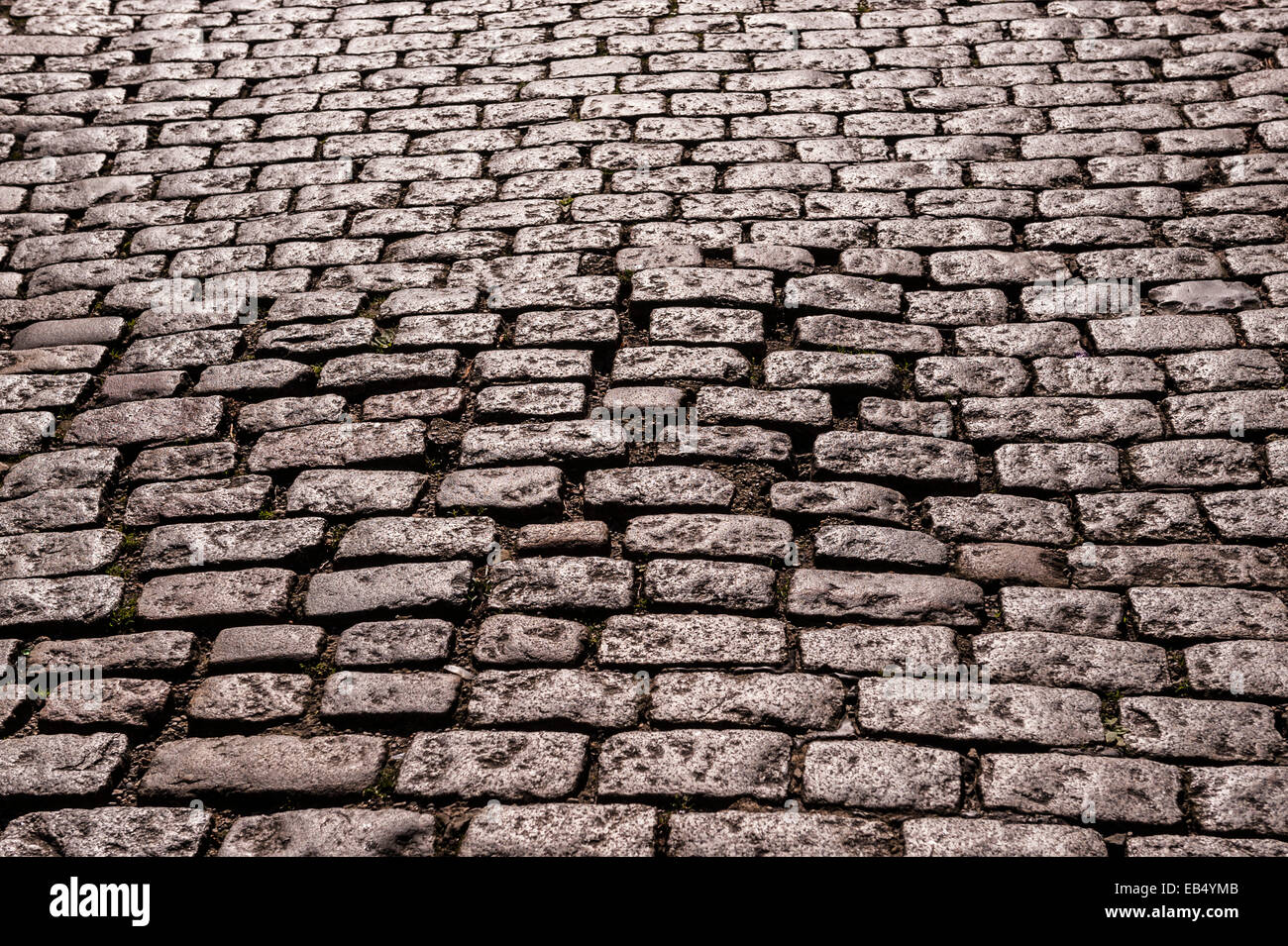 A cobbled street in Durham , England , Britain , Uk - Stock Image