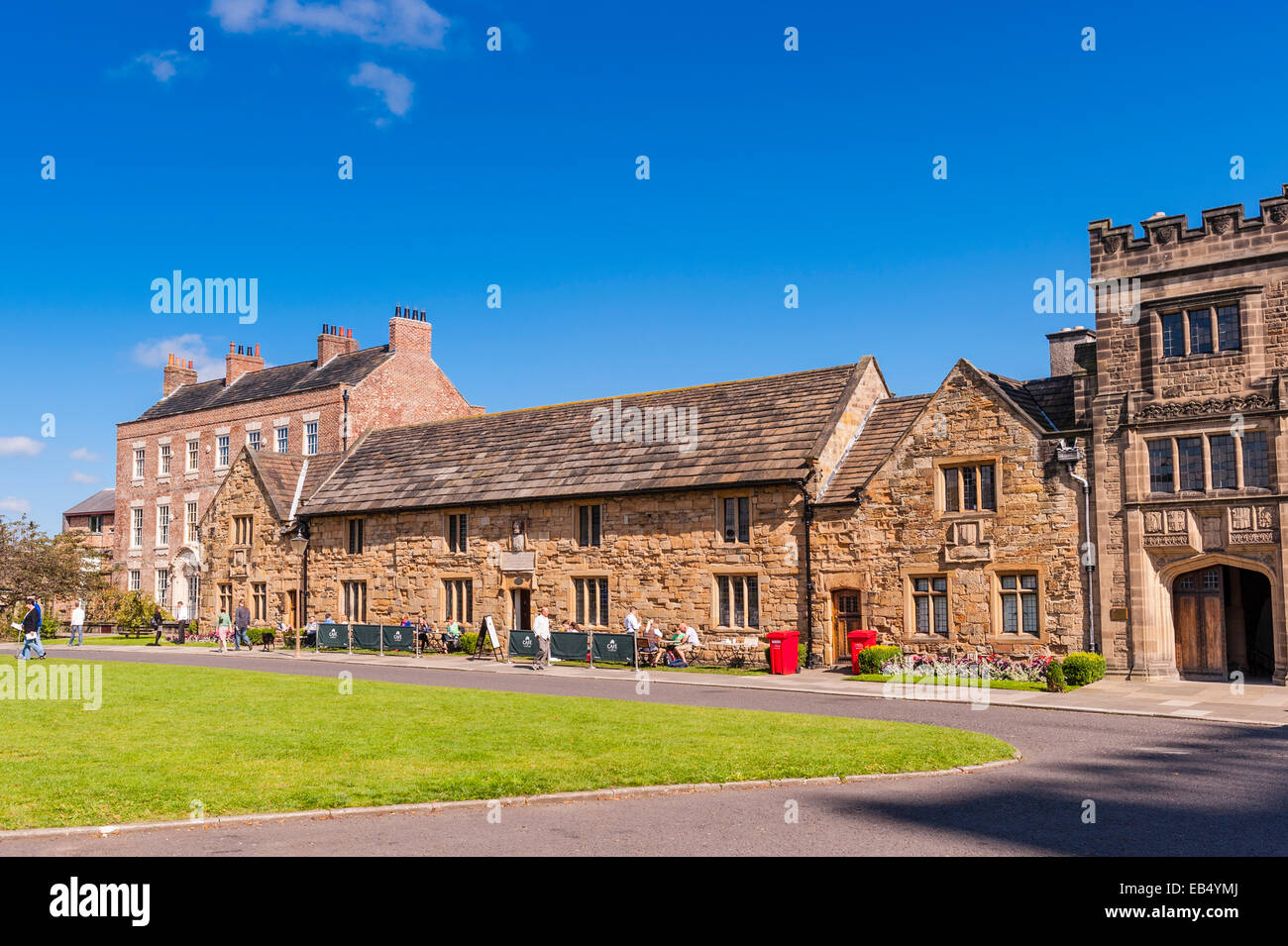 The 15th century almshouses building in Durham , England , Britain , Uk - Stock Image