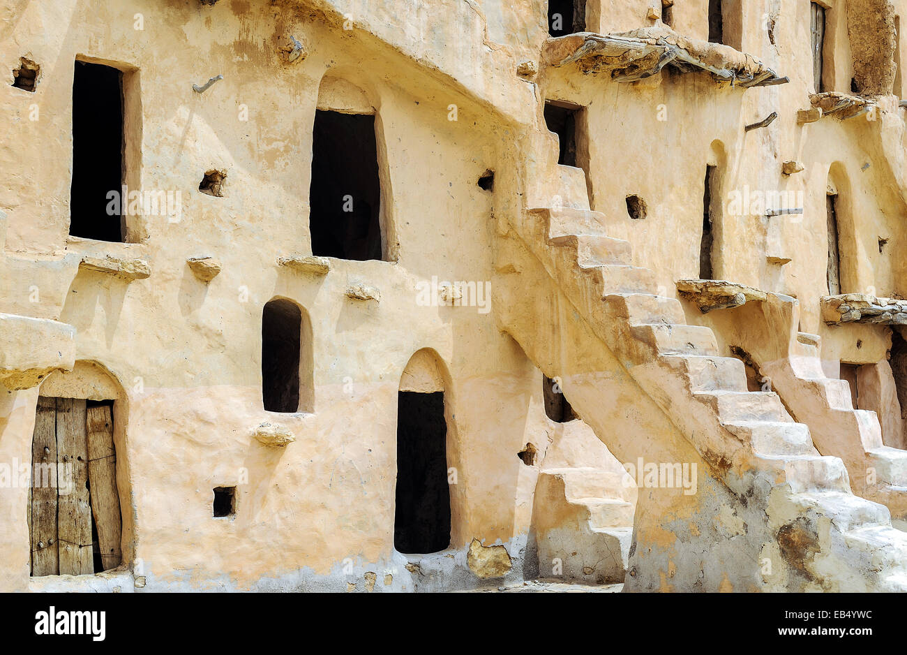 South of Tunisia, Tataouine,the Ksar Ouled Soltane,ancient berber fortified granary Stock Photo