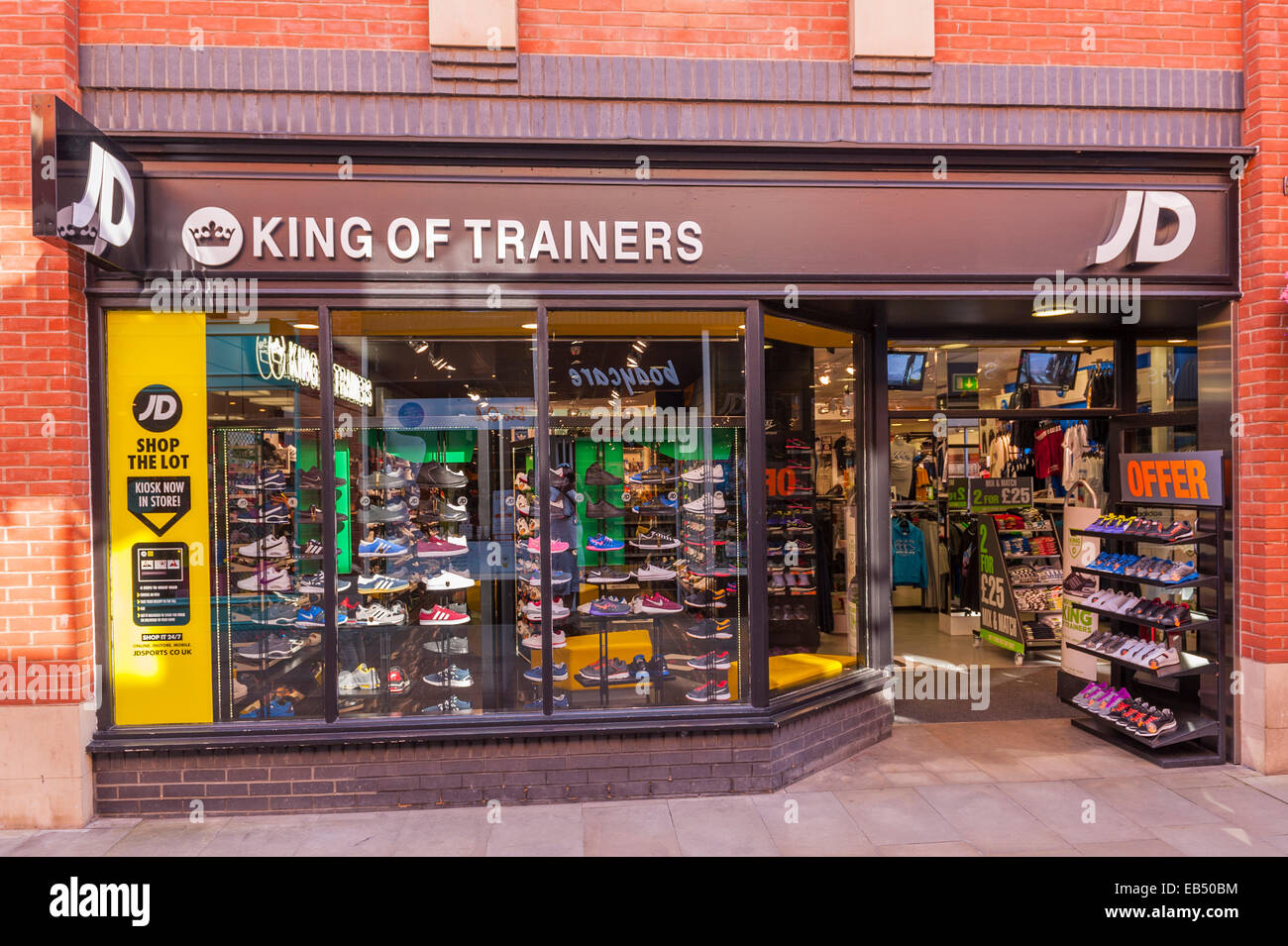 69f7548a15158 The King of Trainers sport shop store in Durham , England , Britain , Uk -