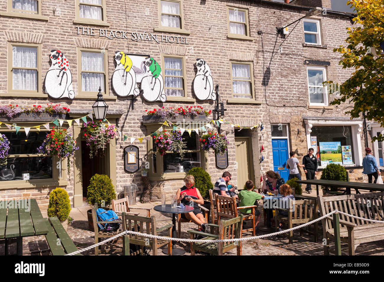 The Black Swan Hotel in Leyburn , the Yorkshire Dales  Yorkshire , England , Britain , Uk - Stock Image