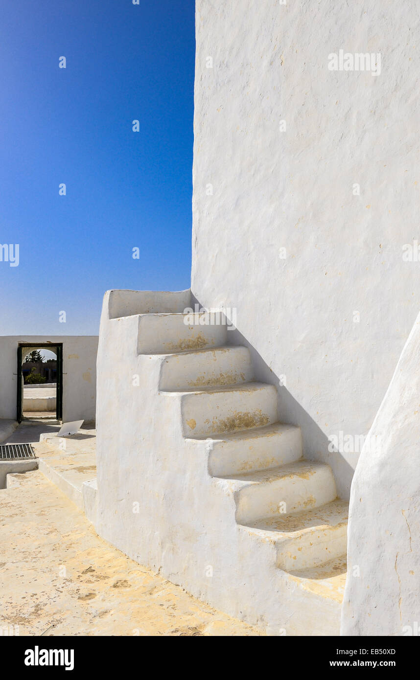 South of Tunisia, Djerba,the ancient Fadh Loon mosque,detail - Stock Image