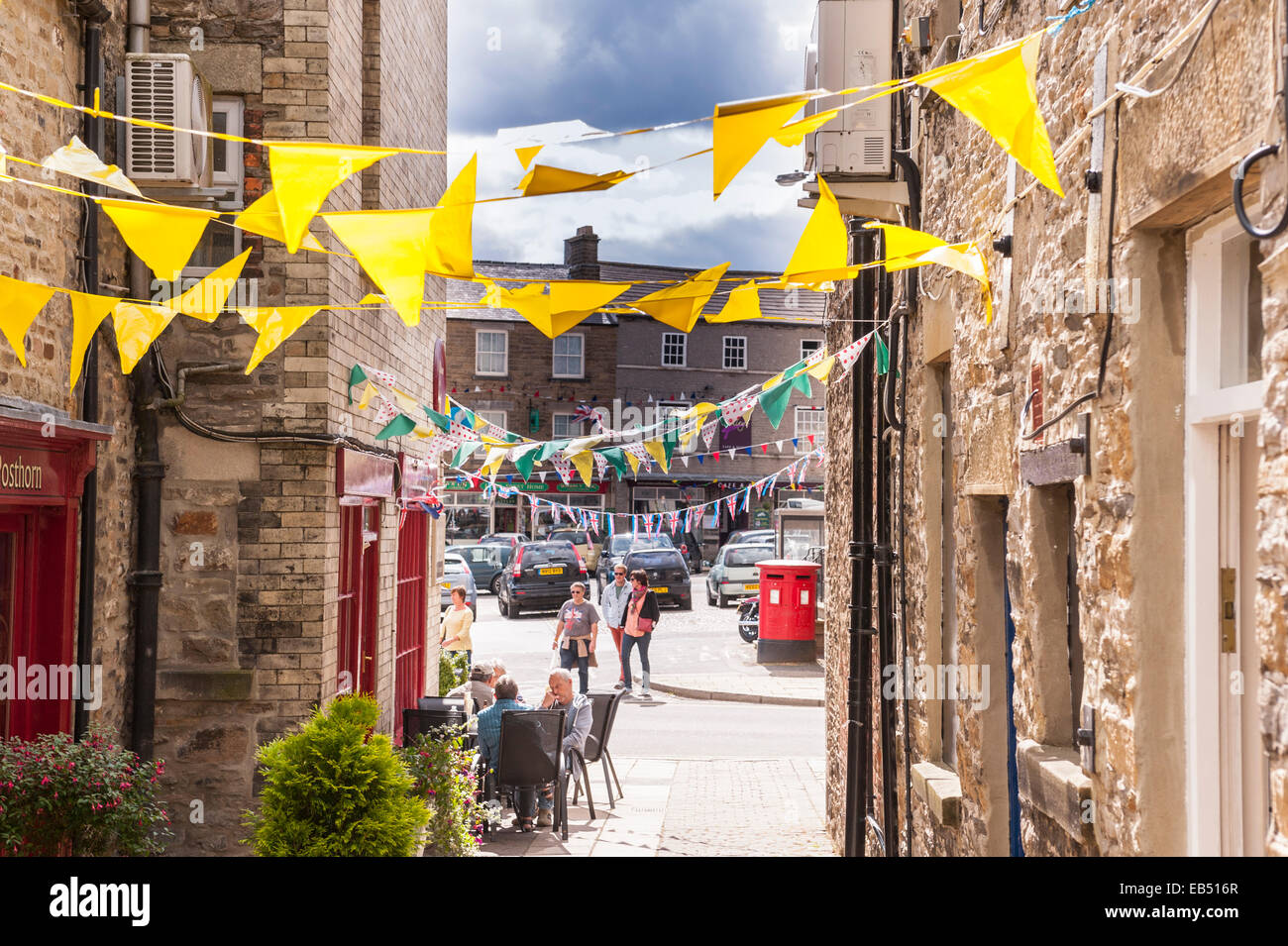 Leyburn in the Yorkshire Dales in Yorkshire , England , Britain , Uk - Stock Image