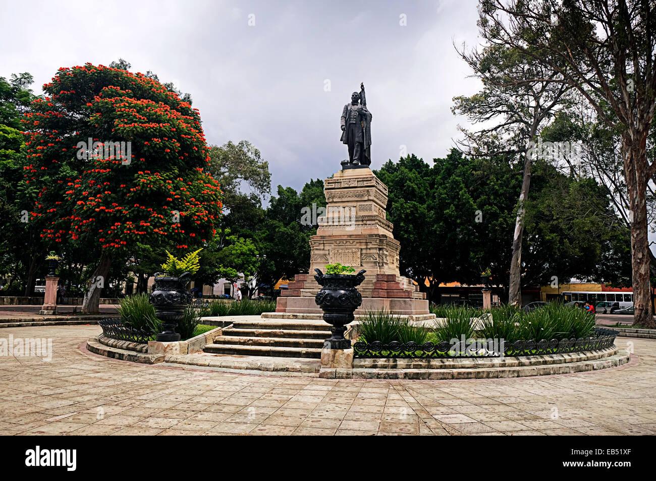 El Llano Park Oaxaca City Mexico - Stock Image