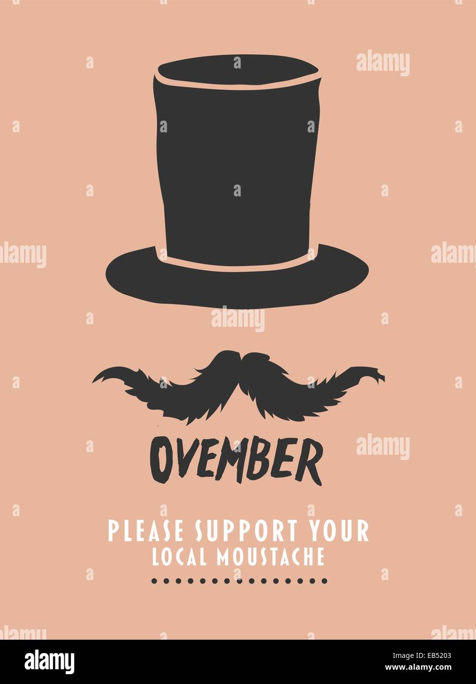 Movember advertisement vector with text and graphic - Stock Image