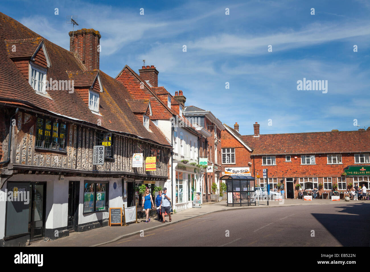 Old timber framed building in the centre of Petersfield Stock Photo