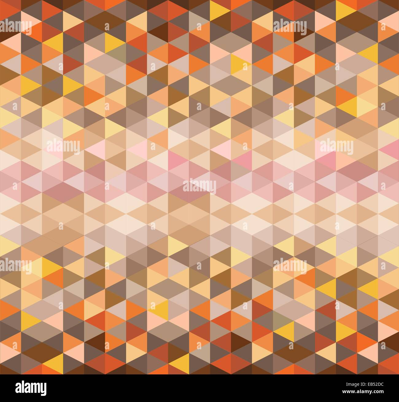 Orange and brown triangle pattern - Stock Image