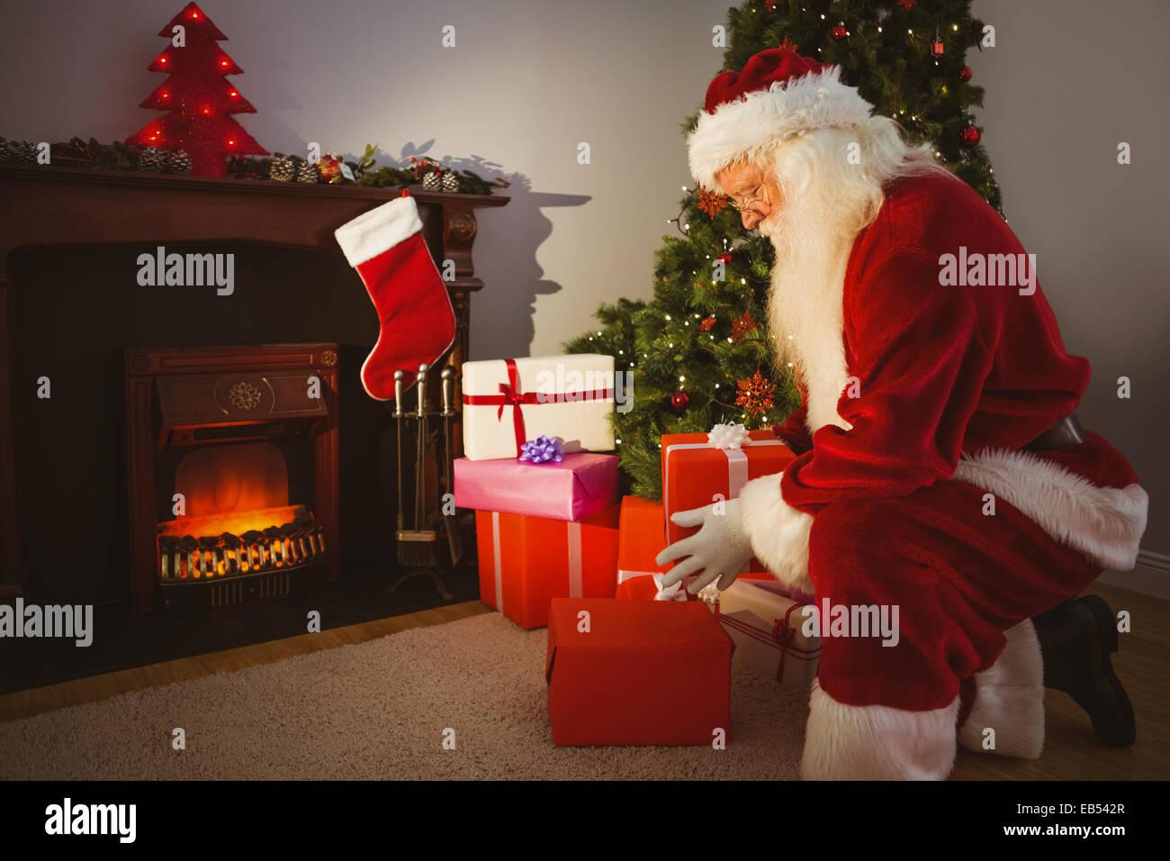 santa claus delivering gifts at christmas eve - Santa Claus Gifts